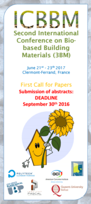 2nd International conference biobased building materials, Clermont Ferrand