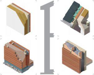 voorbeelden van bouwelementen met ecologische isolatie en materialen voor de afwerking