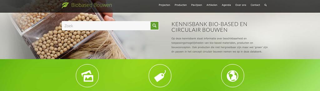 screenshot van de kennisbank biobased en circulair bouwen